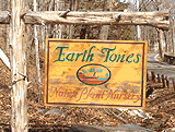 The Earth Tones sign marking our entrance from Grassy Hill Road